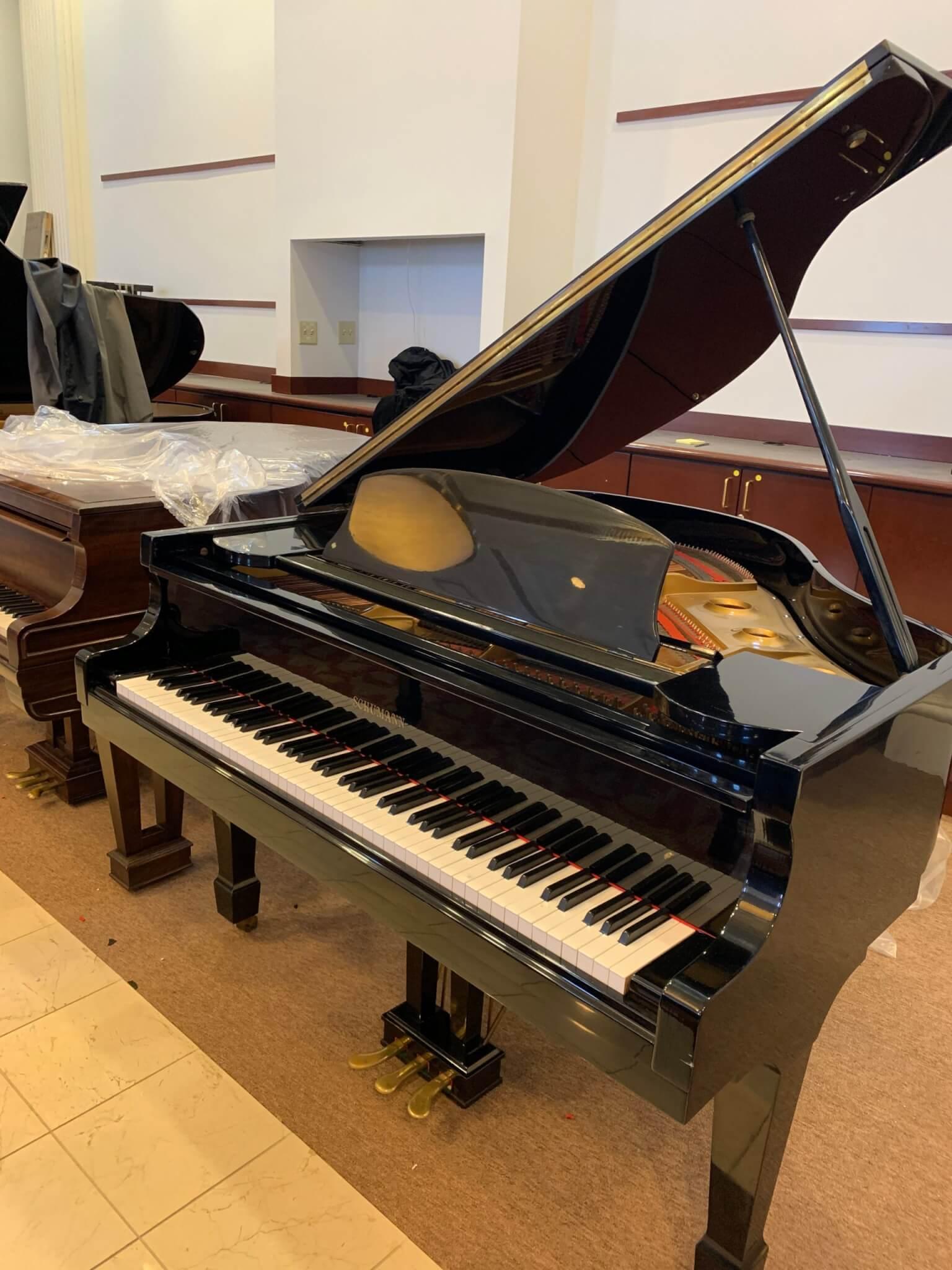 Schumann G80A 5' Ebony Polish Baby Grand Piano - PianoGalleryOutlet